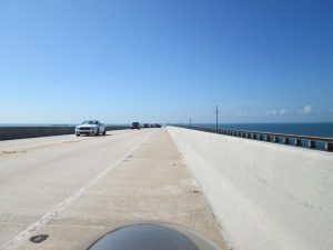 Half way across the Seven Mile Bridge.