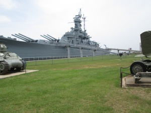 USS Alabama. It was too big to get the whole ship.
