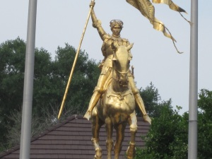 The French people love to give Americans statues. This one is Joan of Arc.