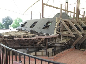 The Ironclad Cairo which was found 10 miles upriver from the battle site.