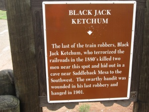 This is outlaw country. Billy the Kid operated in this area along with Black Jack Ketchum.