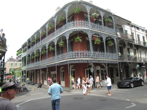 French Quarter buildings are beautiful.