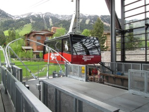 The tram to the top.