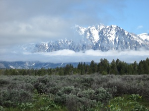 I thought the cloud layers made a good picture in the Grand Tetons.