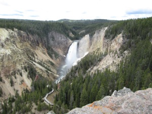 Waterfall in the Grand Canyon of Yellowstone.