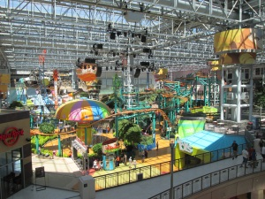 Every shopping mall should have an amusement park inside.