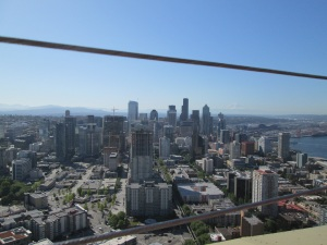Seattle skyline from the Space Needle.