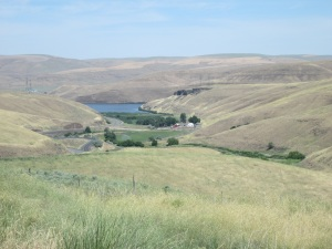 A valley with the Snake River