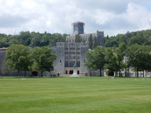 The parade field at West Point.