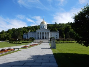 The Vermont capital building.
